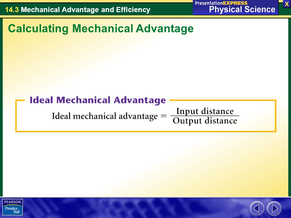 how to find mechanical advantage