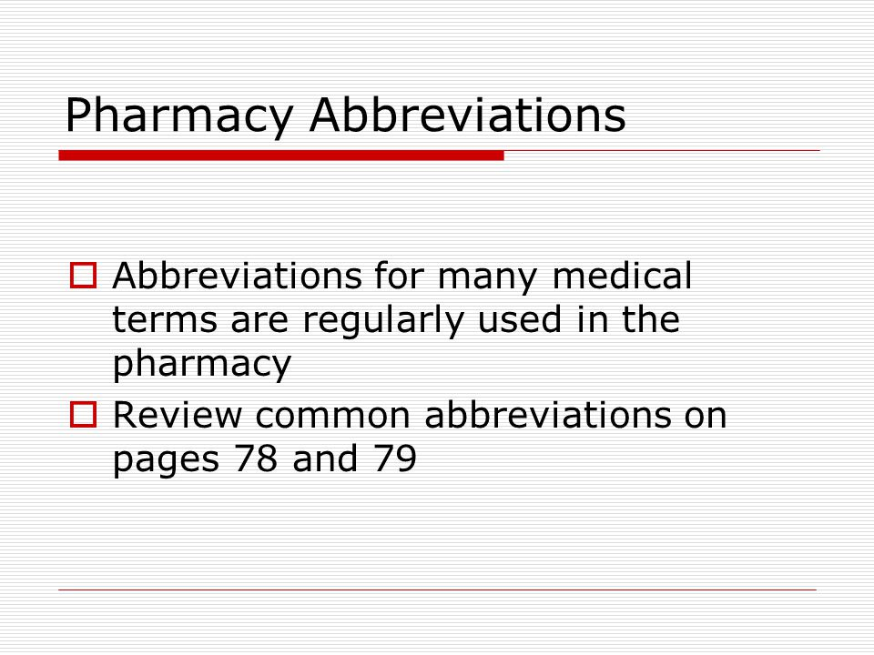 List Of Synonyms And Antonyms Of The Word Pharm Abbreviations