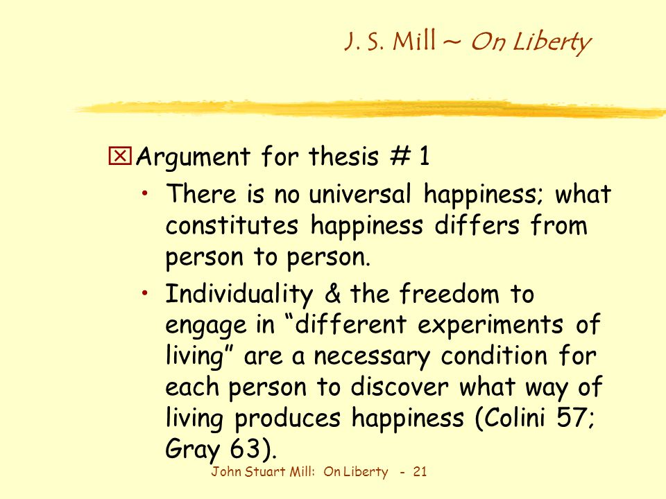 mill individuality essay On liberty john stuart mill 1859 batoche books kitchener of individuality the subject of this essay is not the so-called liberty of the will, so.