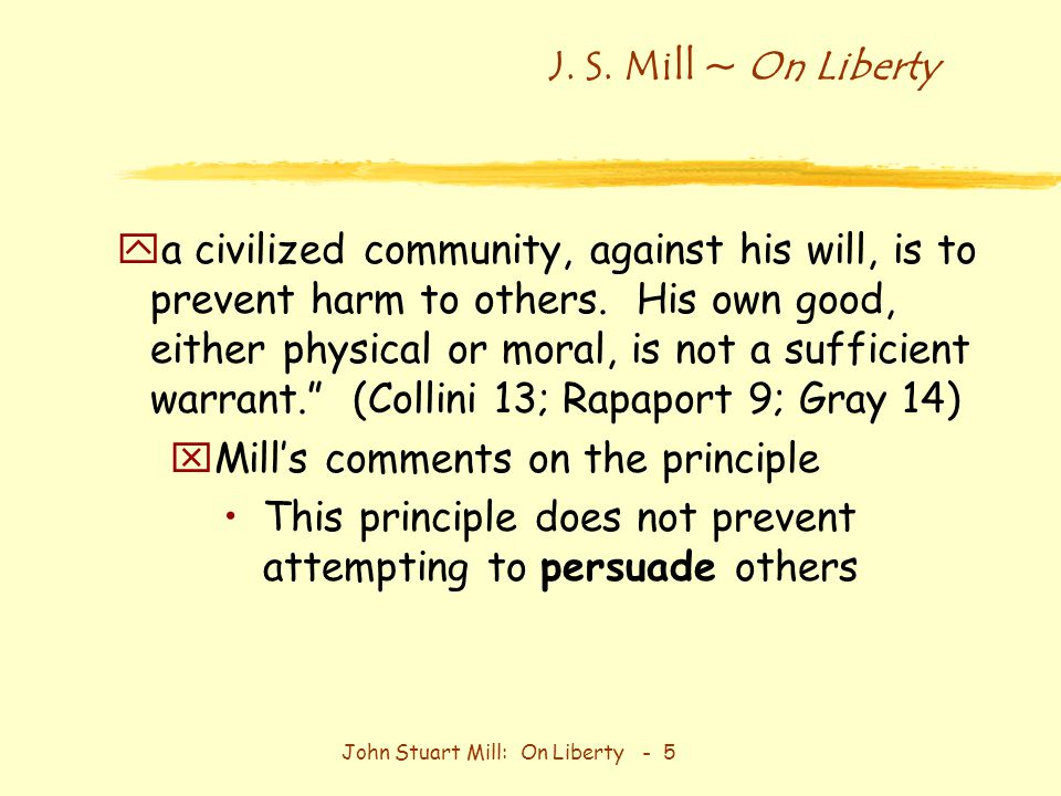 john mill on liberty essay On liberty john stuart mill 1859 batoche books kitchener  6/john stuart mill  the subject of this essay is not the so-called liberty of the will, so.