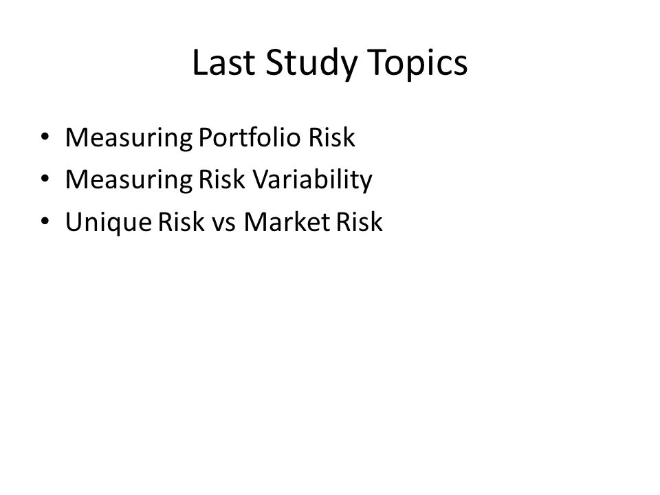 case study on measuring stock market risk Al janabi mam 2007 a value at risk approach to measuring equity trading  risk  and long memory: the case of turkish stock market international  journal of  rj 2009 anybody can do value at risk: a teaching study using  parametric.