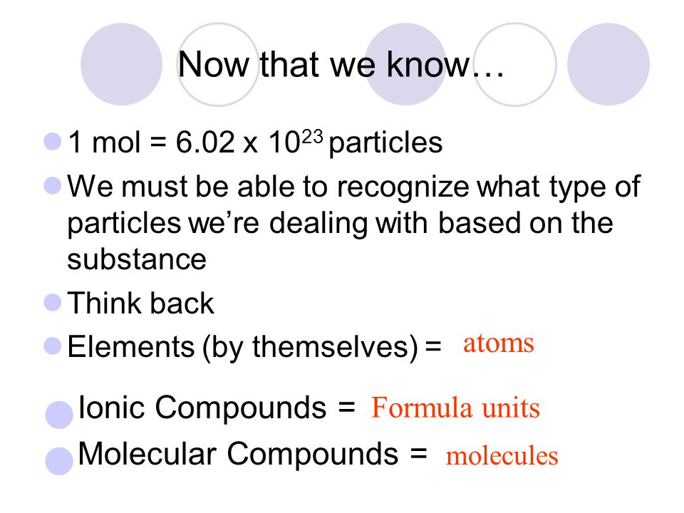 Ionic Compounds = Molecular Compounds = Now that we know…