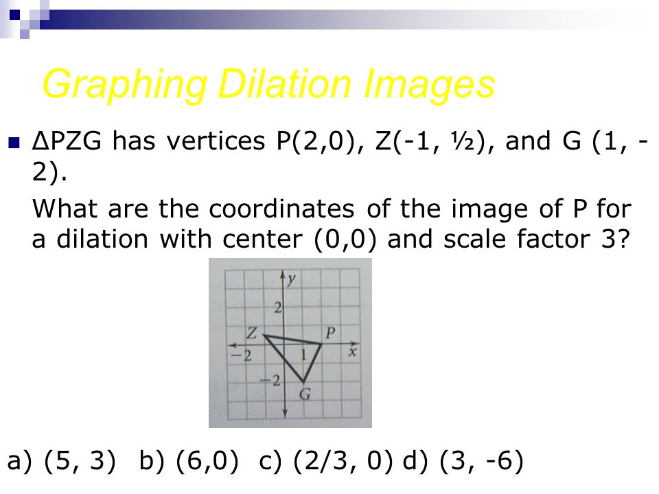 Graphing Dilation Images