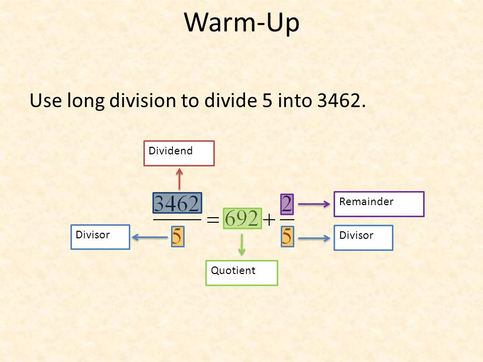 how to find divisor when dividend and quotient is given