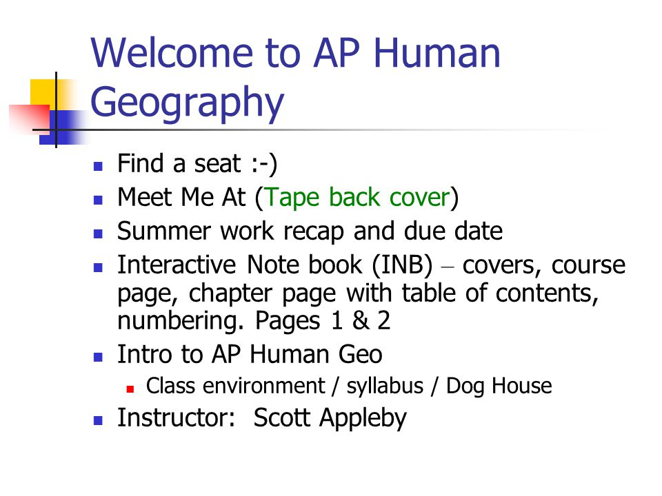 an introduction to the work of geographers Chapter 1 introduction to human geography section i humans are geographers by nature they can think territorially or spatially and have an awareness of.