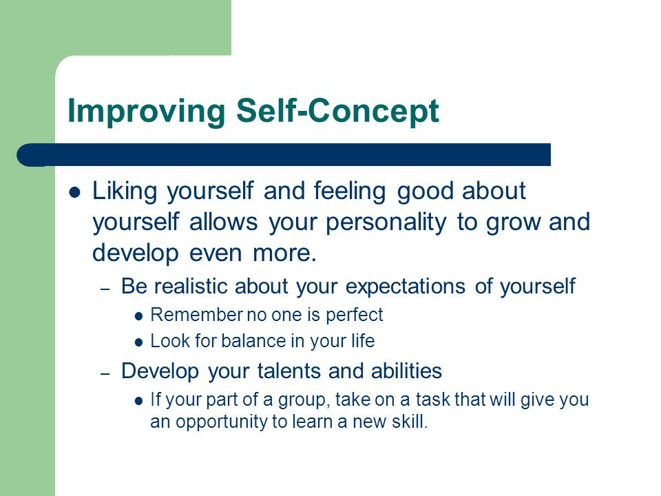 Improving Self-Concept