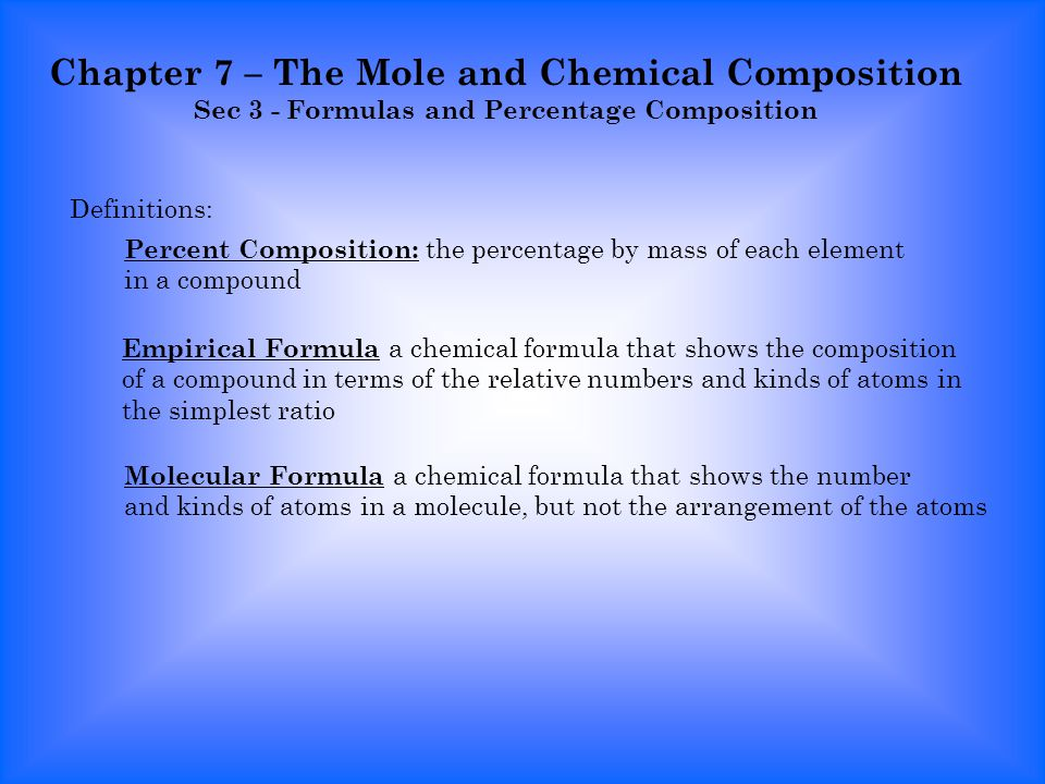 Chemistry percent composition and empirical and molecular formula worksheet answers