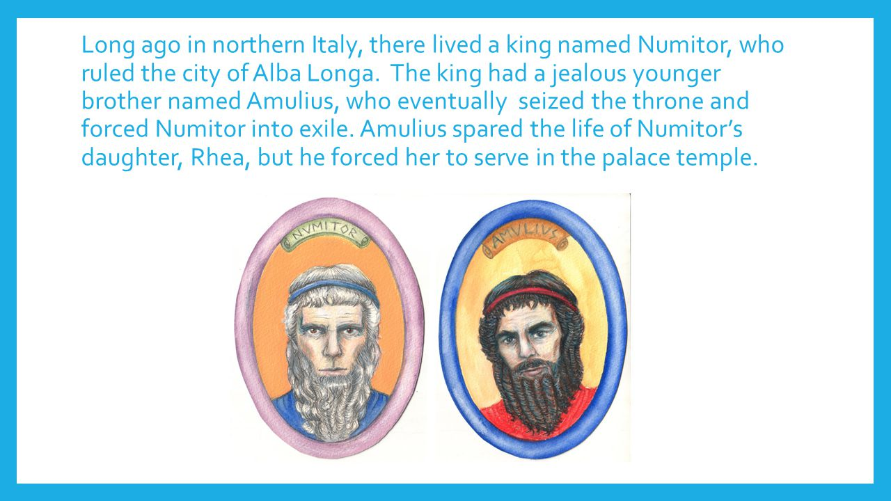 an introduction to the life of numitor the king of alba Posts about roman life written  the etruscans are an interesting introduction into the  king of alba longa, numitor had a jealous brother named amulius.