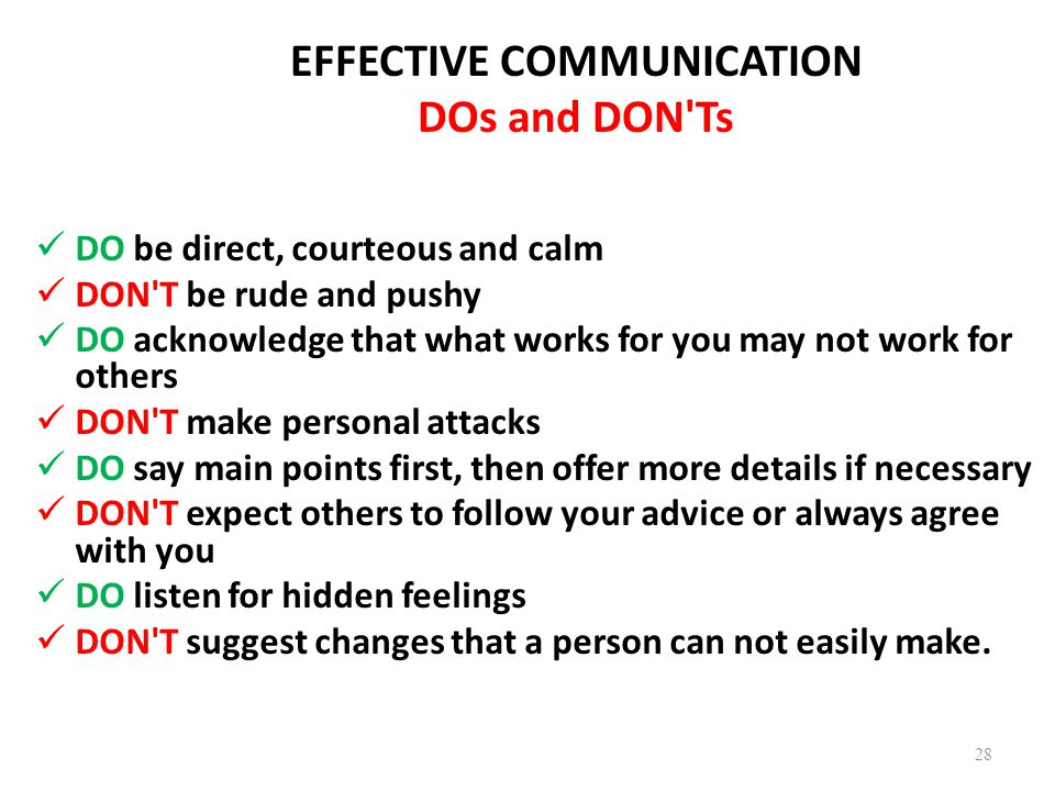 relationship communication do and donts