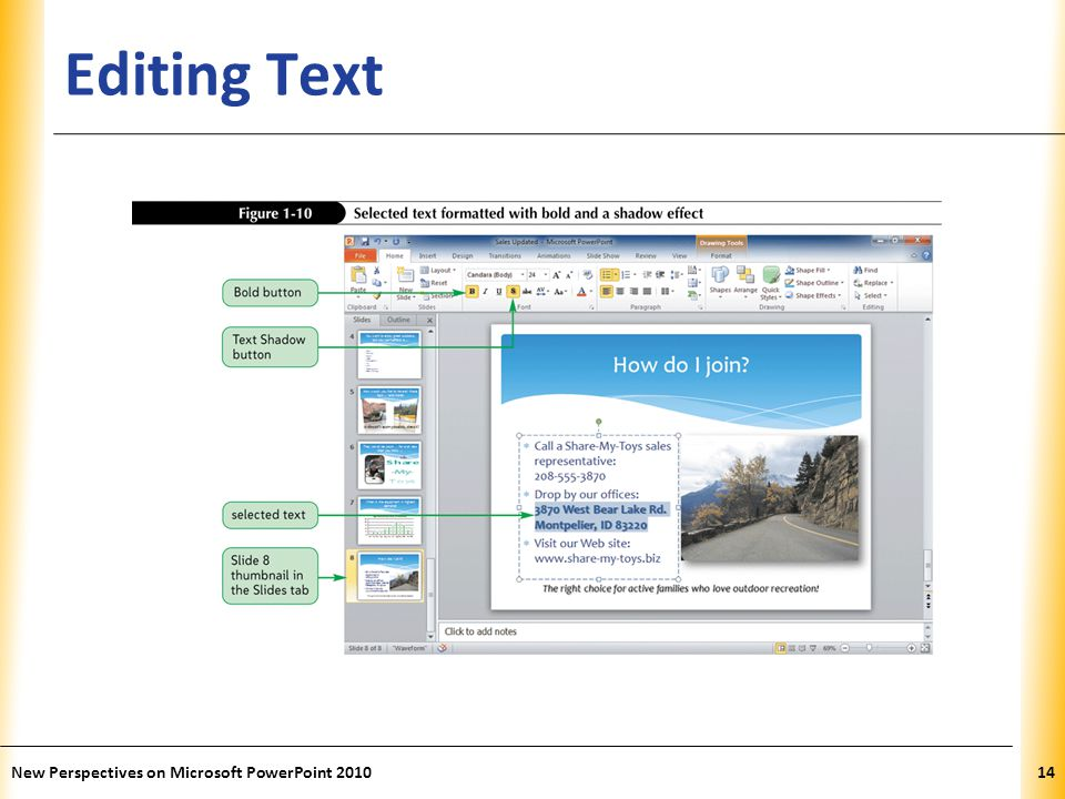 Editing Text New Perspectives on Microsoft PowerPoint 2010