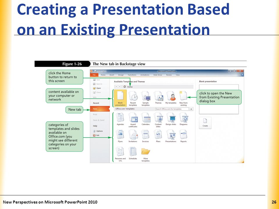 Creating a Presentation Based on an Existing Presentation