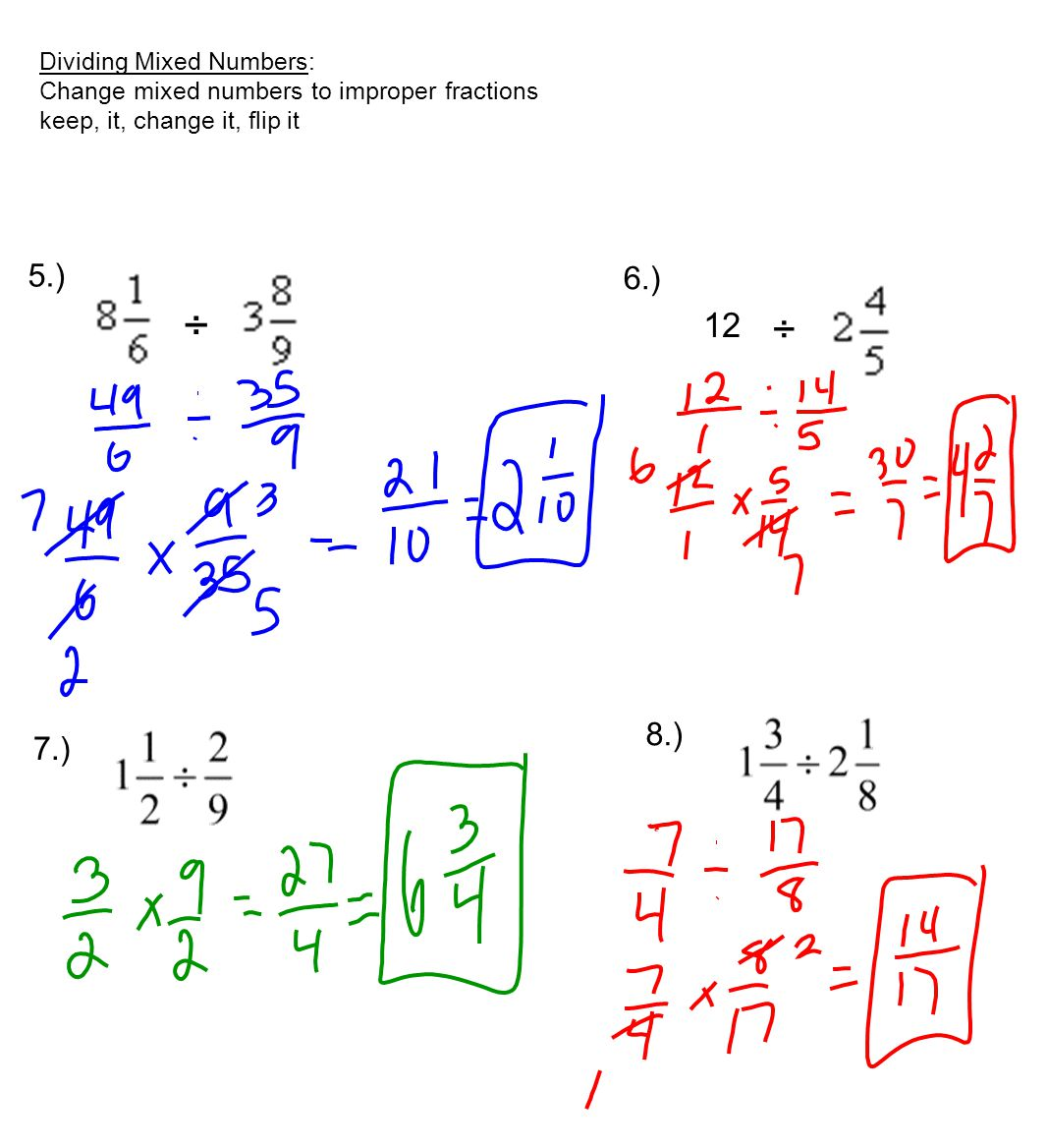 How To Divide Mixed Number Fractions Popflyboys
