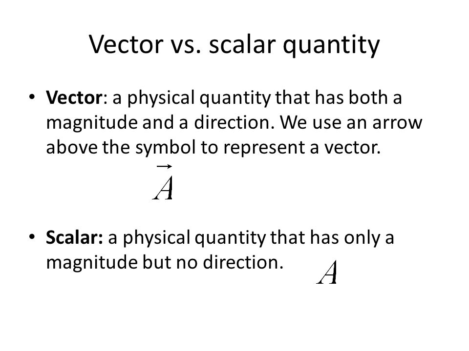 Difference Between Vector Quantity and Scalar Quantity