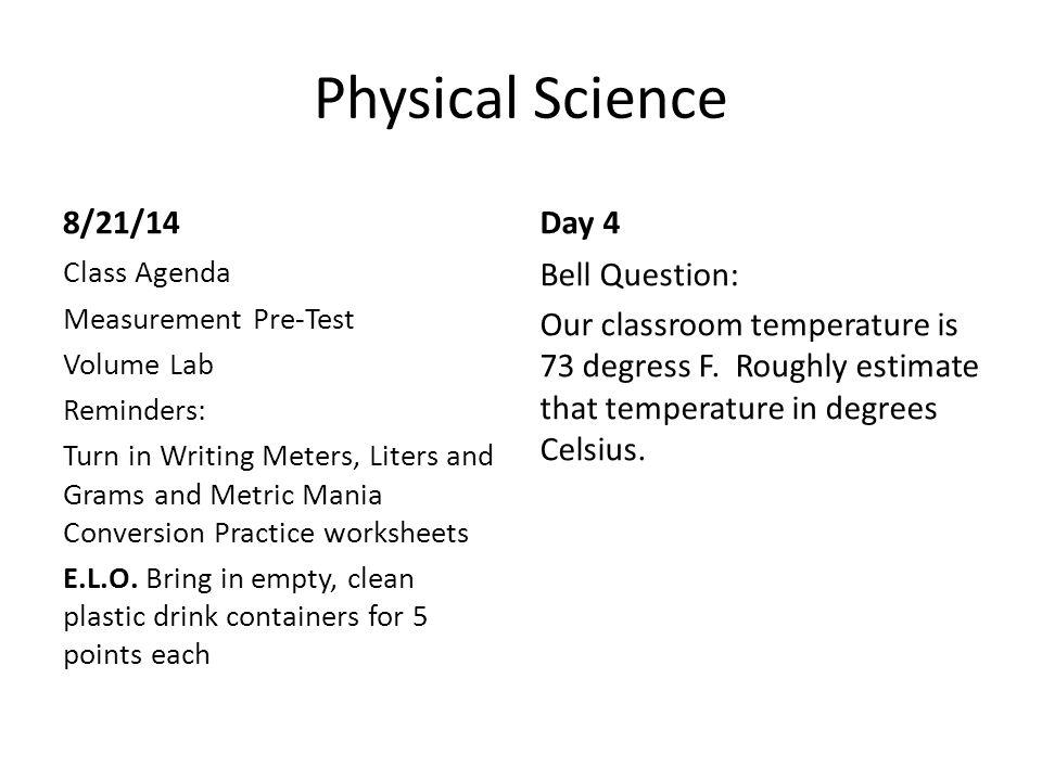 physical science bell work ppt video online download. Black Bedroom Furniture Sets. Home Design Ideas