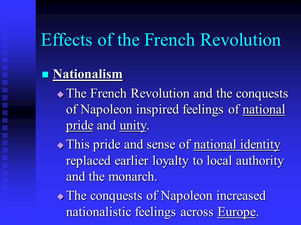 analysis of the effects of the french revolution He french revolution was an influential period of  picture analysis french revolution  to cite the major causes and effects of the french revolution.