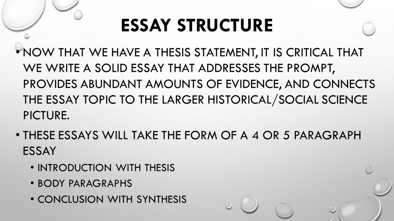 the lonnnnnnnnnng essay ppt video online 14 essay structure