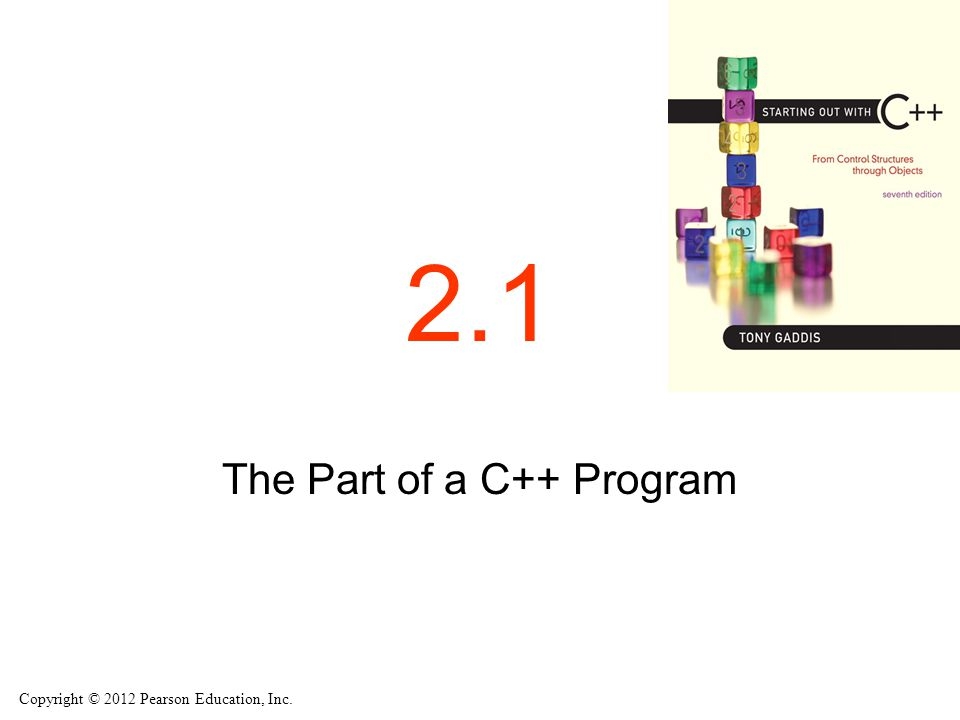 The Part of a C++ Program