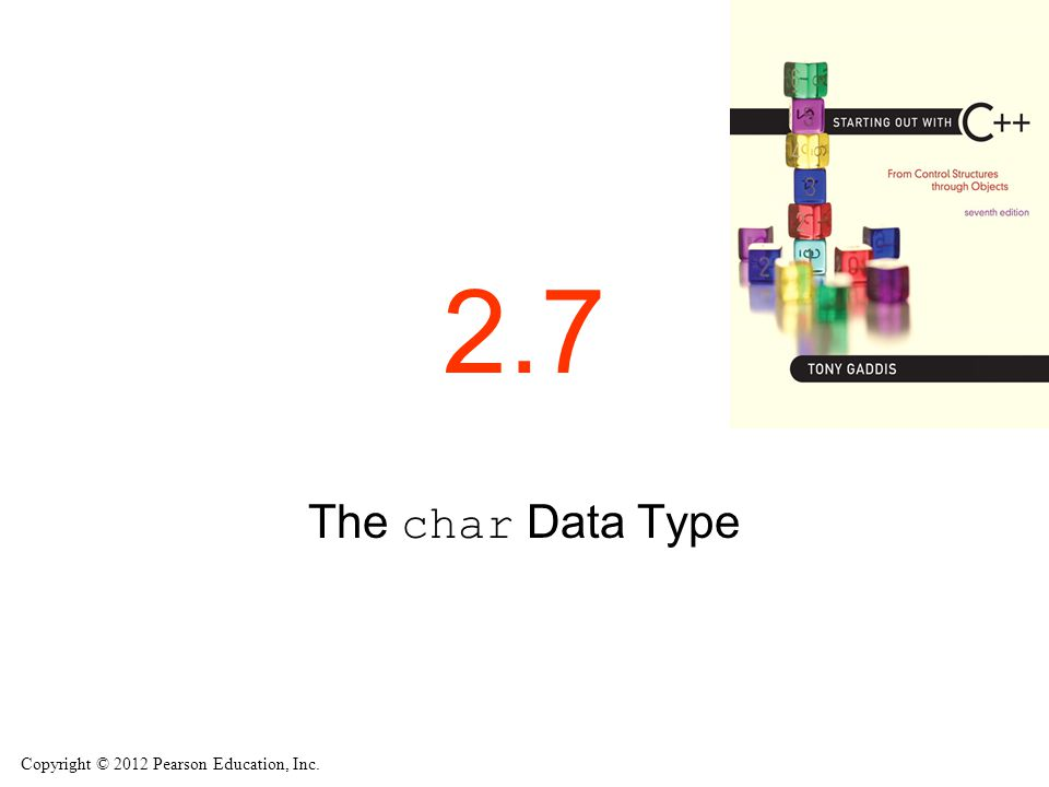 2.7 The char Data Type