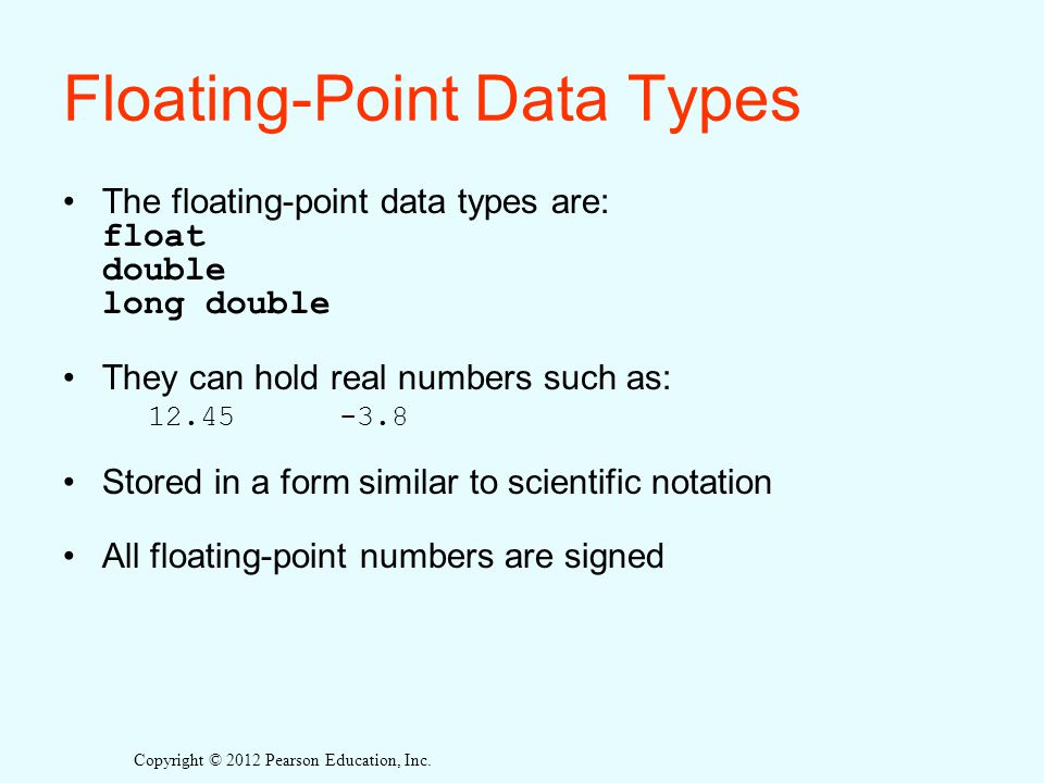 Floating-Point Data Types