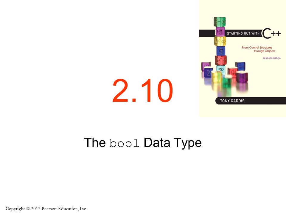 2.10 The bool Data Type
