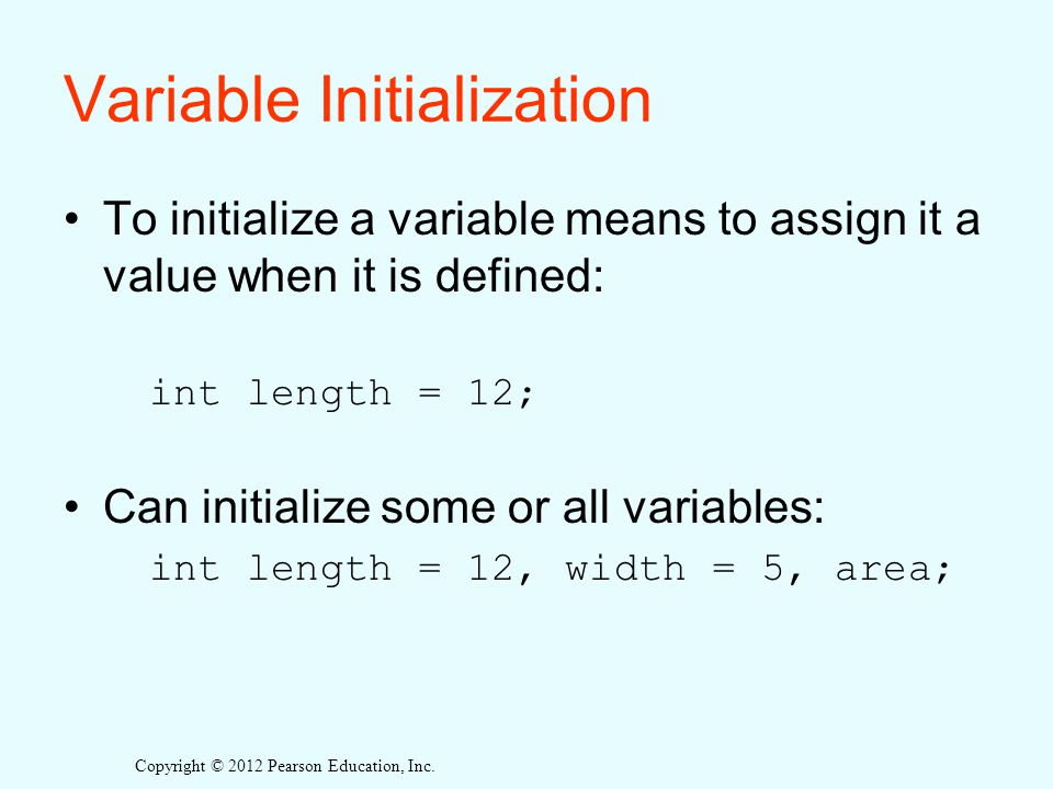 Variable Initialization