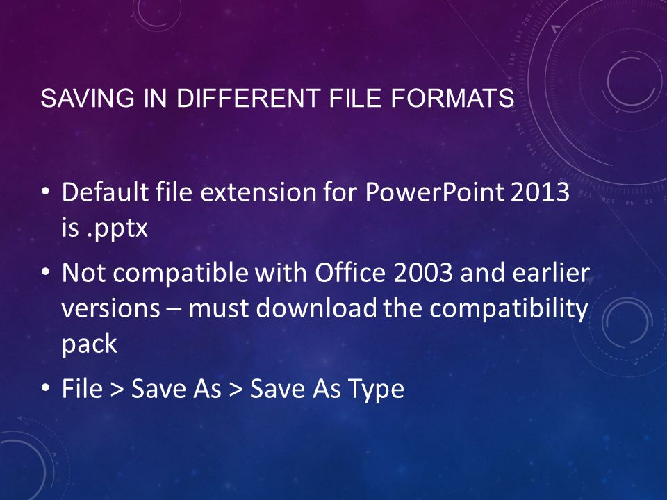 Presentations basics moac lesson ppt video online download 3 saving in different file formats default file extension for powerpoint toneelgroepblik Images