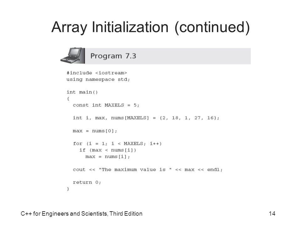 Array Initialization (continued)