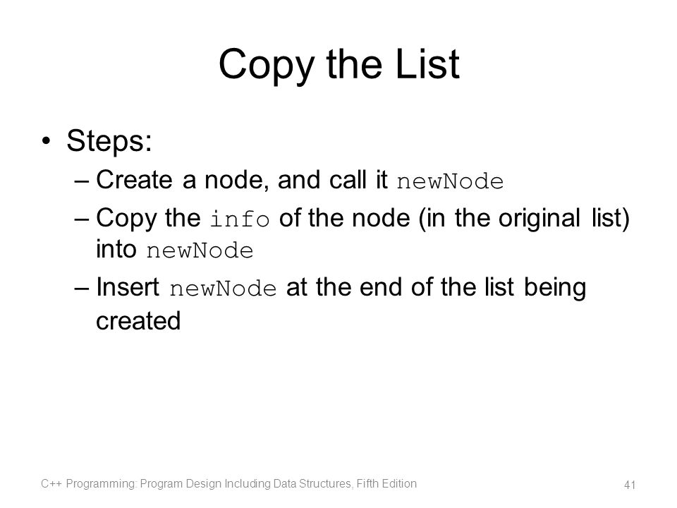 how to create a list in c++