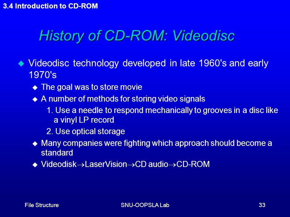 an introduction to the history of audio cd Abstract – an audio compact disc (cd) holds up to 74 minutes, 33 seconds of  sound,  philips and sony, although competitors in many areas, shared a long  history of  now, 25 years after the introduction of the cd, home cinema on  dvd.