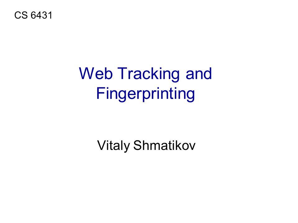 Web Tracking and Fingerprinting