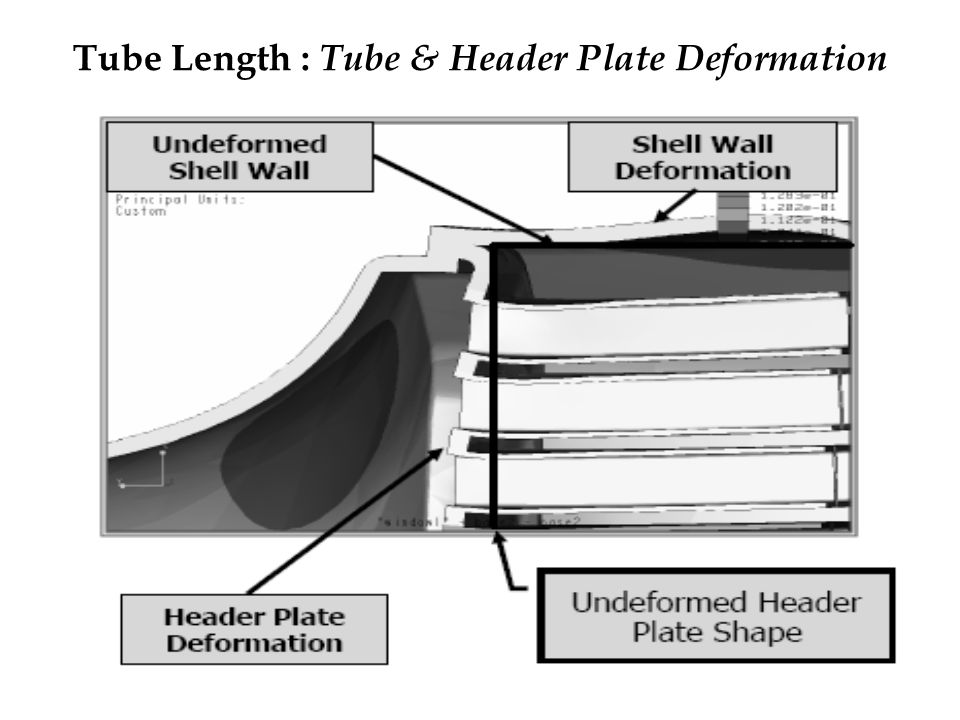 Tube Length : Tube & Header Plate Deformation