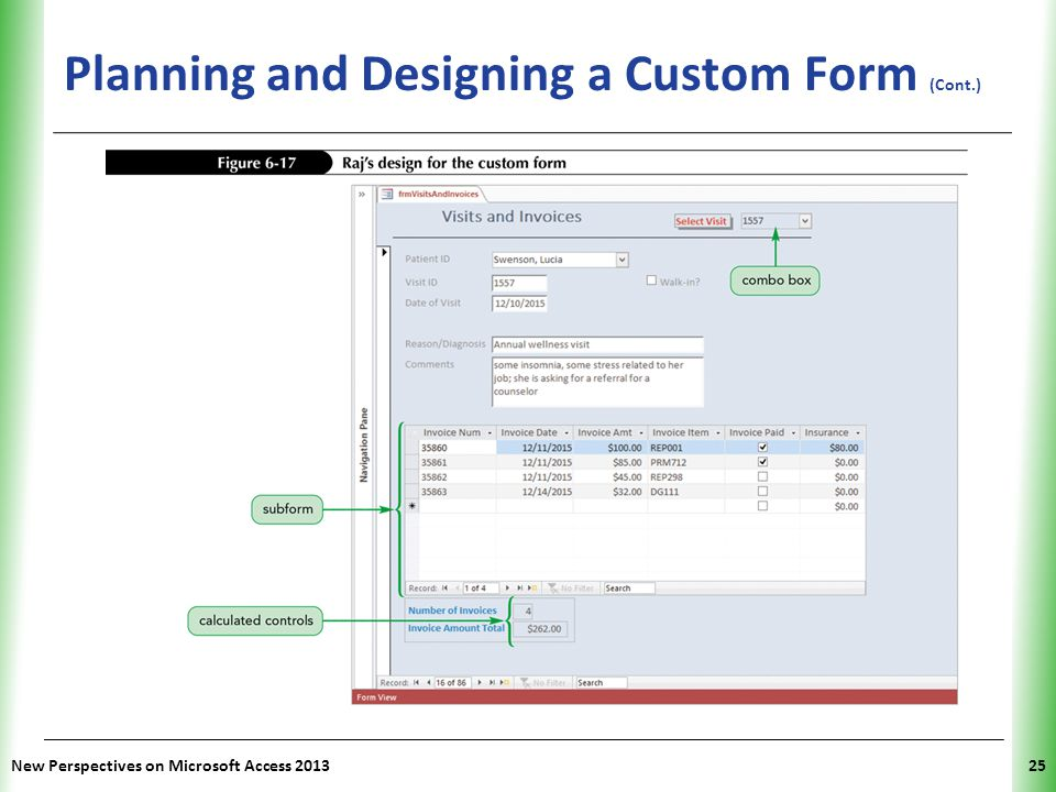 Planning and Designing a Custom Form (Cont.)