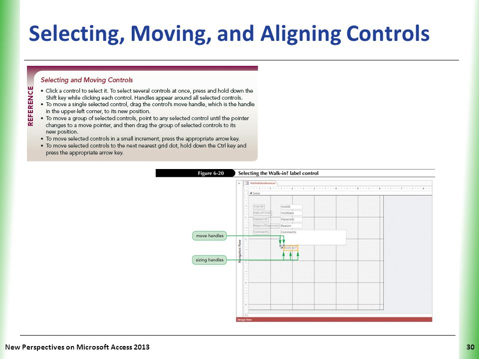 Selecting, Moving, and Aligning Controls
