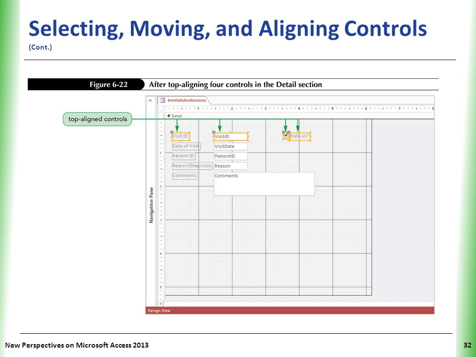 Selecting, Moving, and Aligning Controls (Cont.)