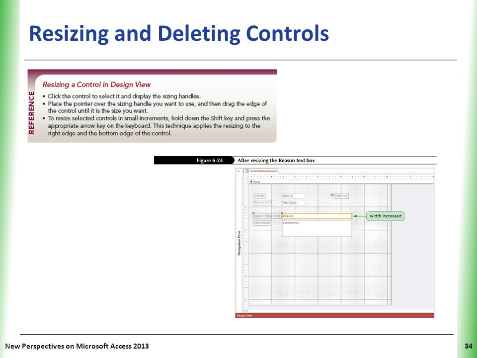 Resizing and Deleting Controls