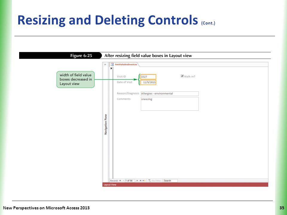 Resizing and Deleting Controls (Cont.)
