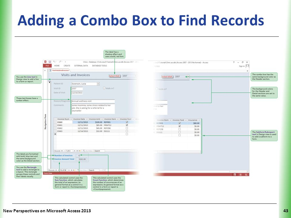 Adding a Combo Box to Find Records