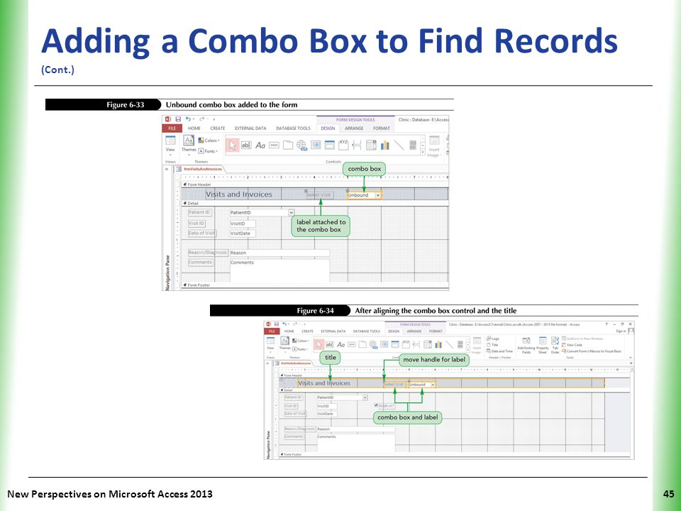 Adding a Combo Box to Find Records (Cont.)