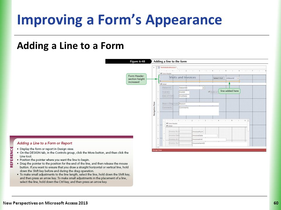 Improving a Form's Appearance