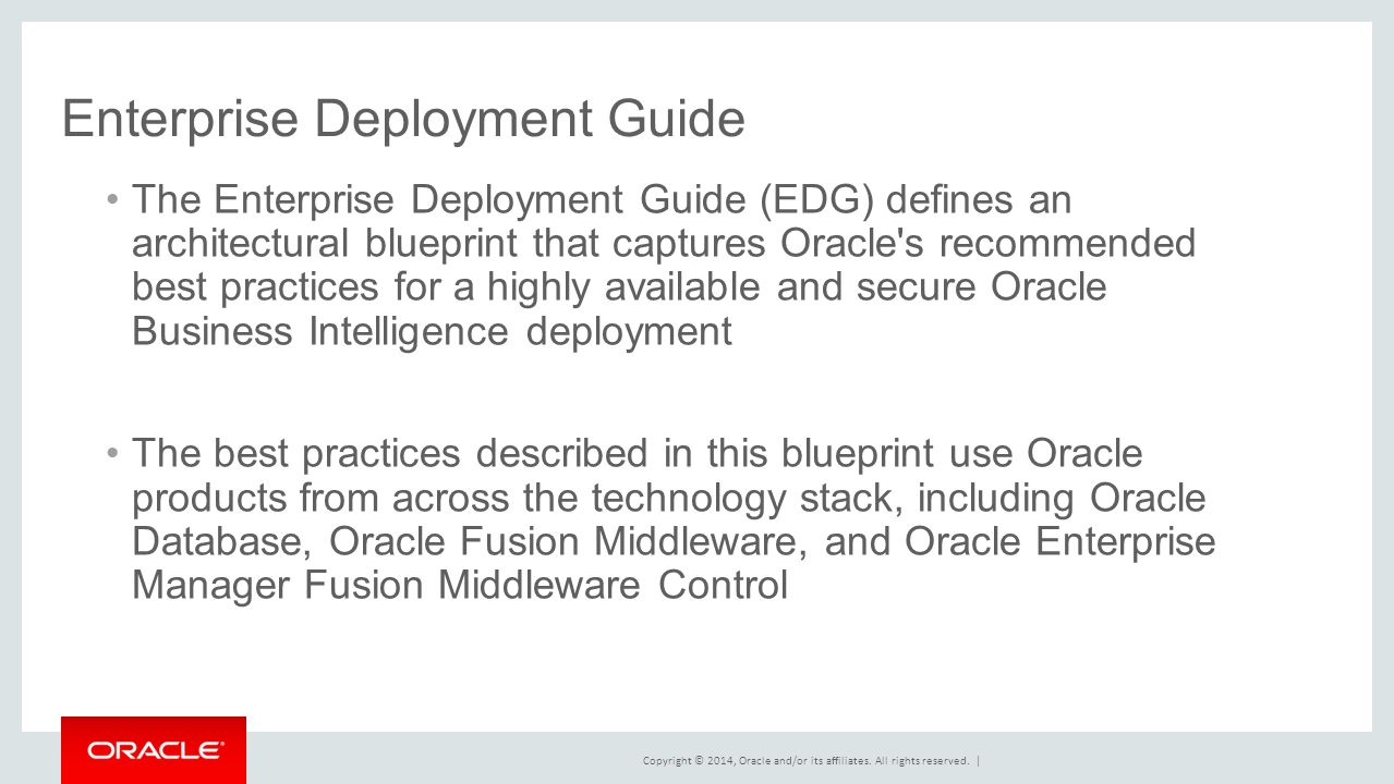 Effectively deploying and managing business intelligence 74 enterprise deployment guide malvernweather Images