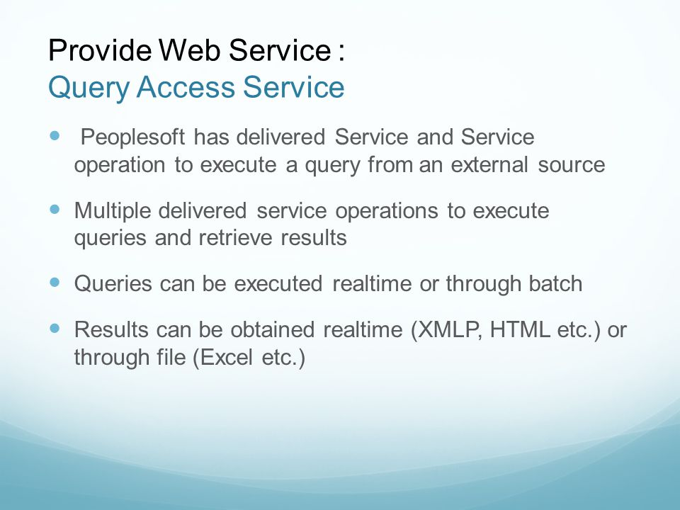 webservice for interaction with 3rd party applications