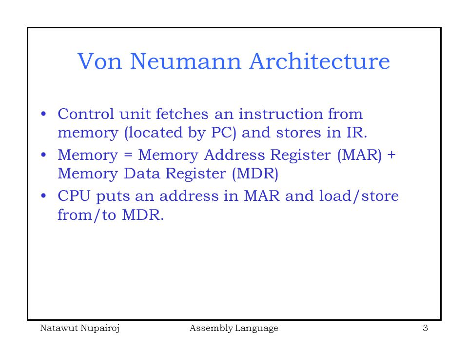 Sparc architecture overview ppt download for Architecture von neumann