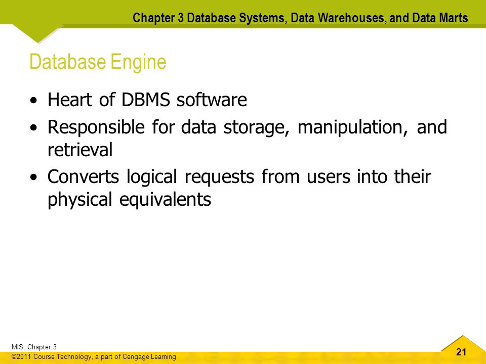 Database Engine Heart of DBMS software