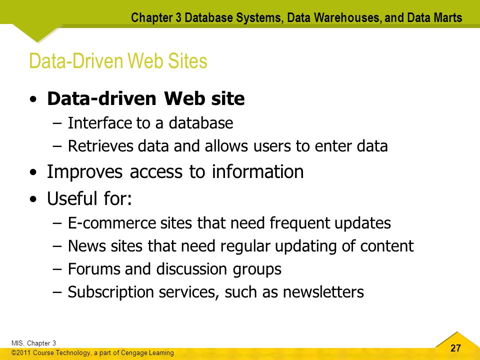 Data-Driven Web Sites Data-driven Web site