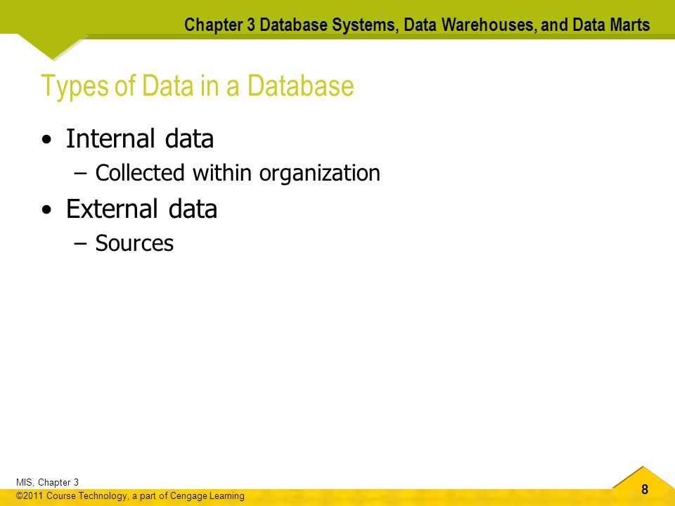 Types of Data in a Database