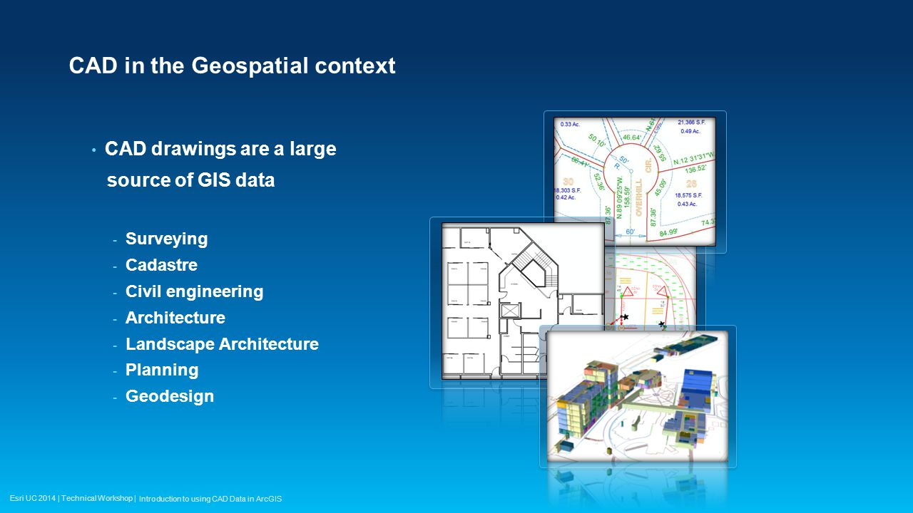 Using cad data in arcgis ppt video online download for Gis for landscape architects