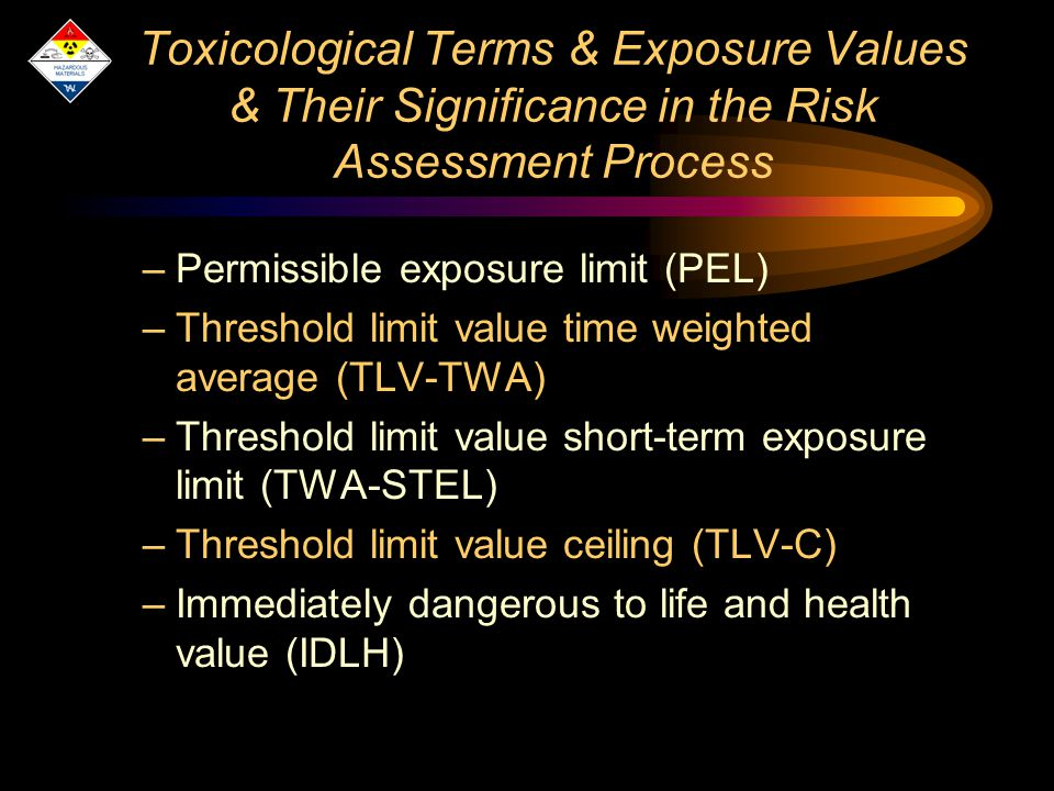 toxicological risk associated with an exposure The economic estimates associated with the exposure-associated outcomes as an environmental health risk with known toxicology and exposure data.