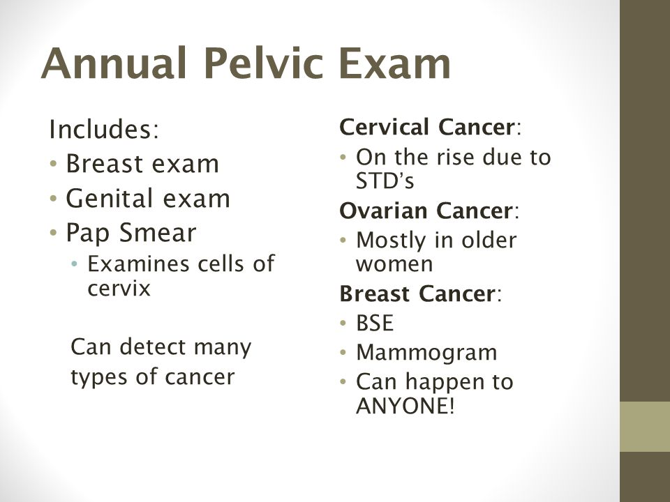 Sorry, this pelvic exam and pap test