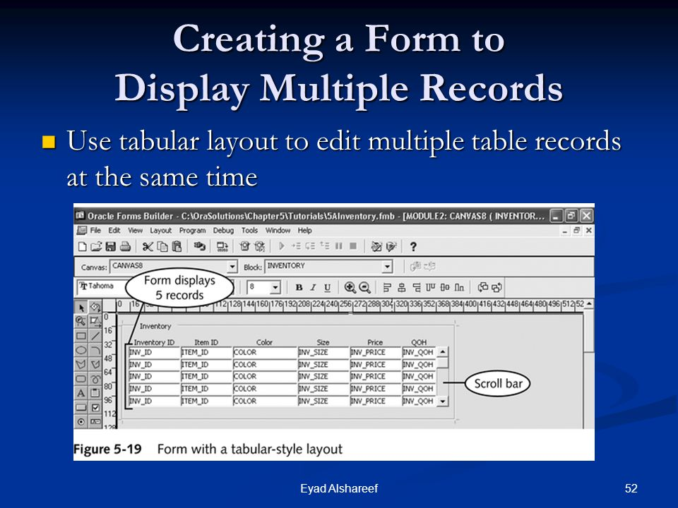 Creating a Form to Display Multiple Records
