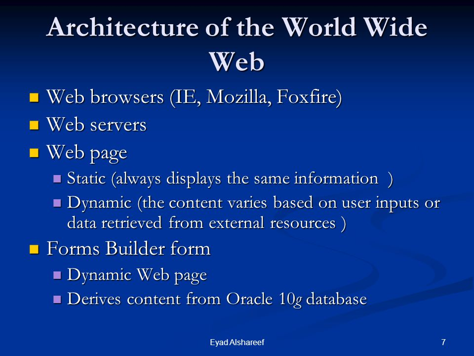 Architecture of the World Wide Web
